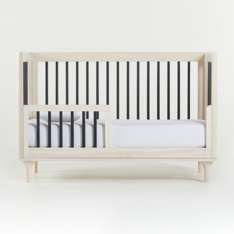 Babyletto Lolly Washed Natural And Black 3 In 1 Convertible Crib