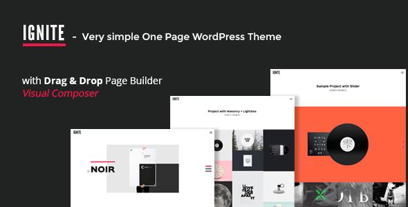 IGNITE v1.0.2 Simple One Page Creative WordPress Theme Blogger ...