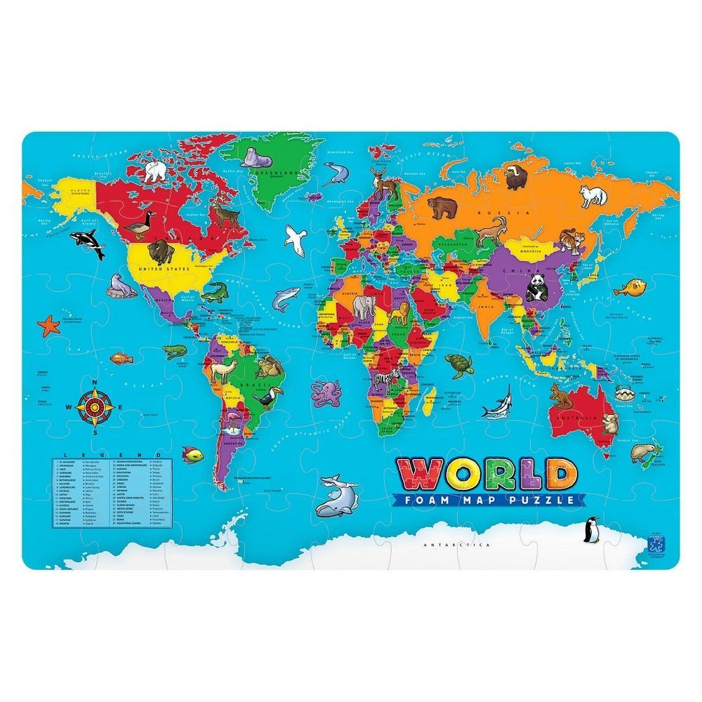 Educational insights world foam map puzzle products educational insights world foam map puzzle gumiabroncs Gallery