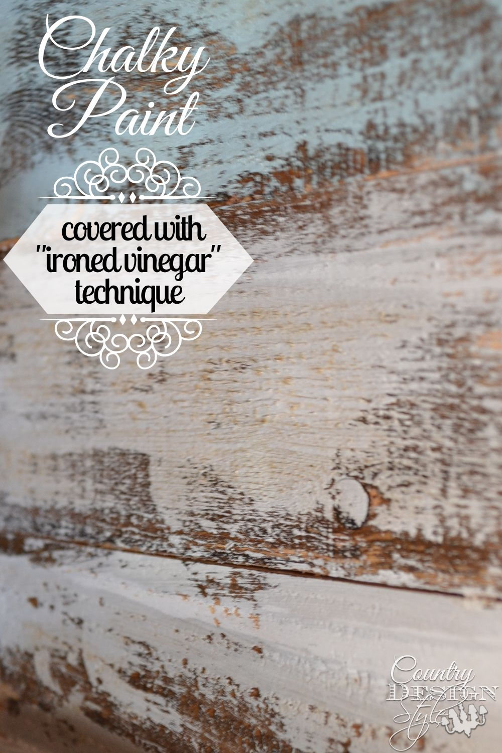 Aged wall paint techniques - Chalky Paint Ironed Vinegar