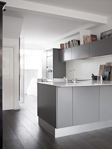 cocinas en #gris #diseño de cocinas #linea3cocinas #madrid Cocinas