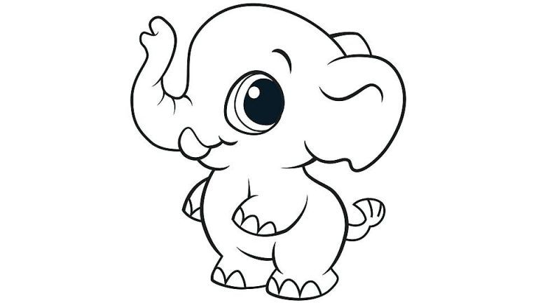 Cute Animal Coloring Pages Elephant Coloring Page Animal