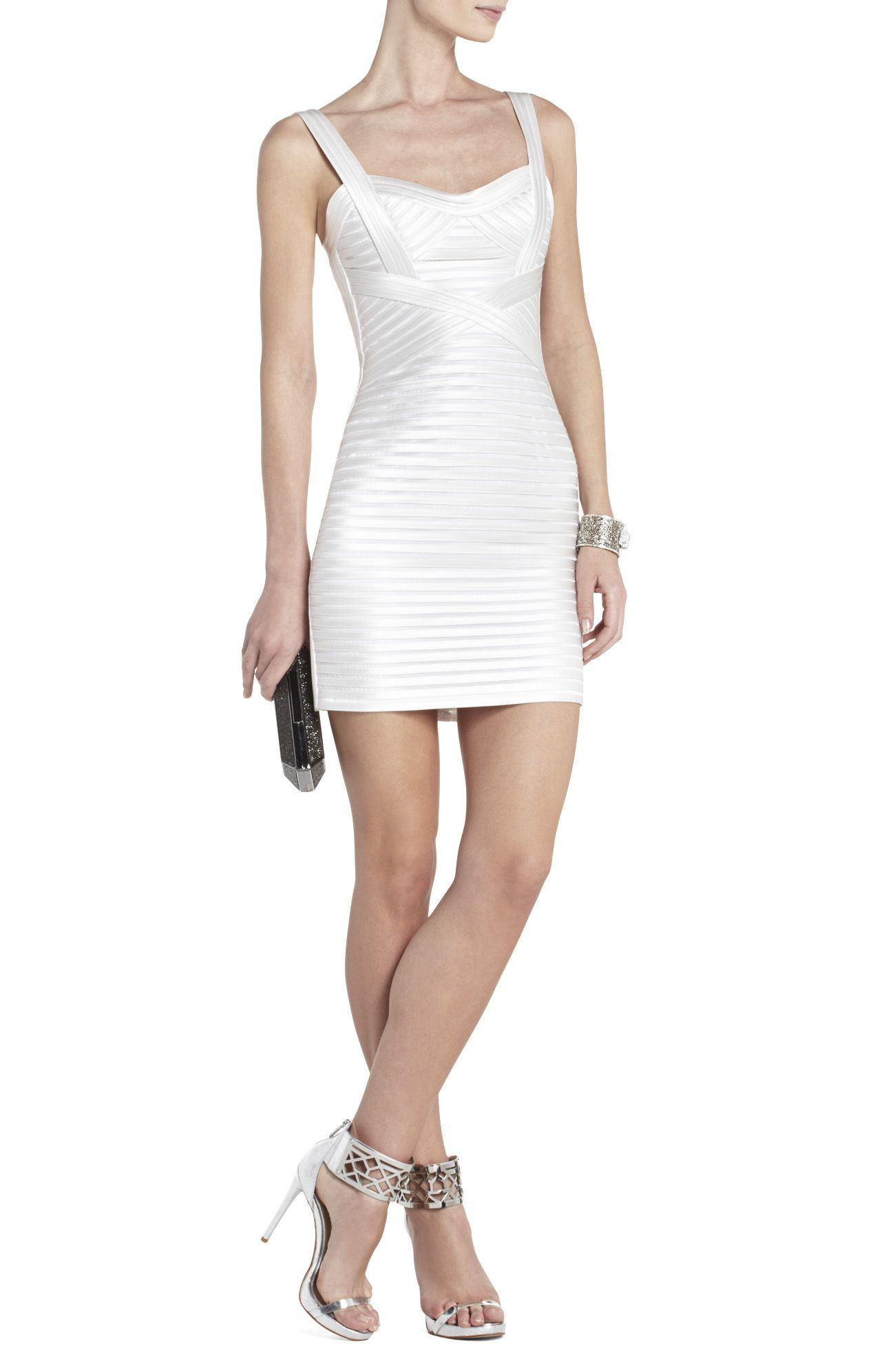 Rivas Cocktail Dress | BCBG | Misti\'s white party | Pinterest