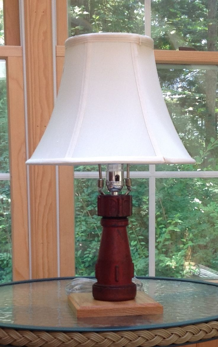 Diy Firefighter Idea Recycling An Old Fire Nozzle Into A Lamp For Your Home Firefighter Decor Lamp House Fire
