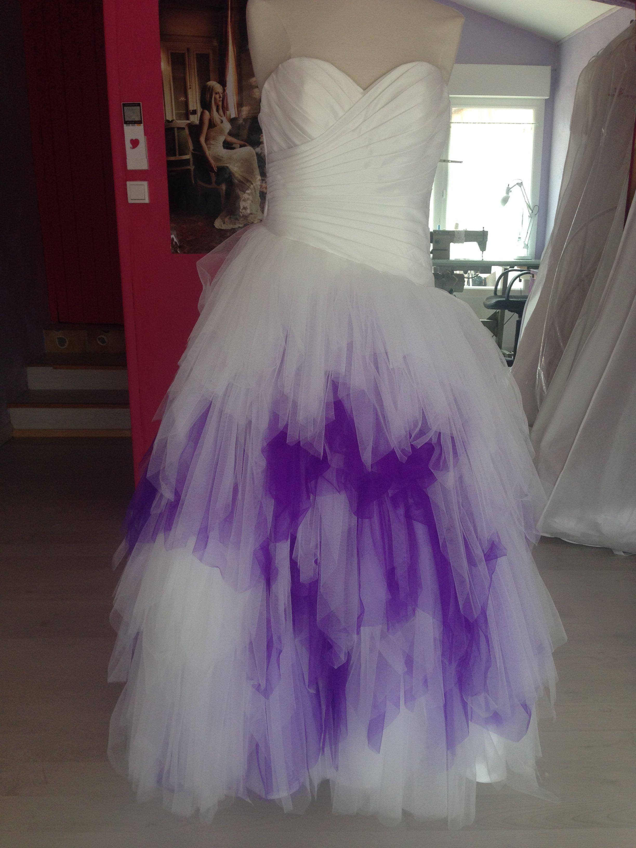 Commande 2015. Robe de mariée en mouchoirs de tulle ivoire ...
