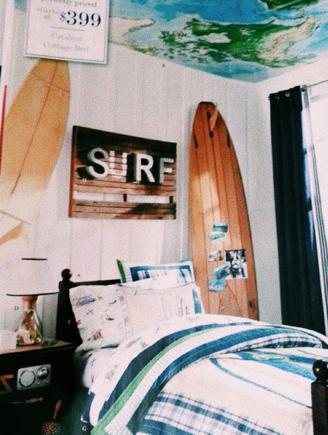 Pin By K A I L E Y On H O M E Surf Bedroom Surf Room Surfer Room