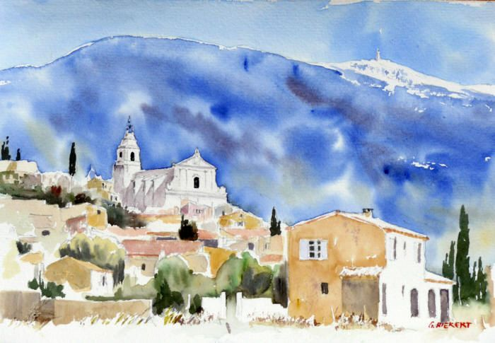 Watercolor In Provence Paysages Landscapes Paysage Aquarelle