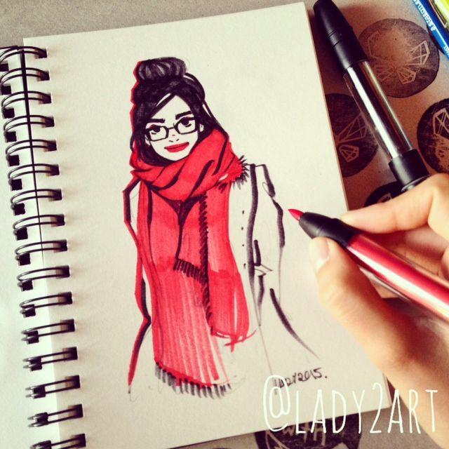 #inktober - fashion sketches. on Behance