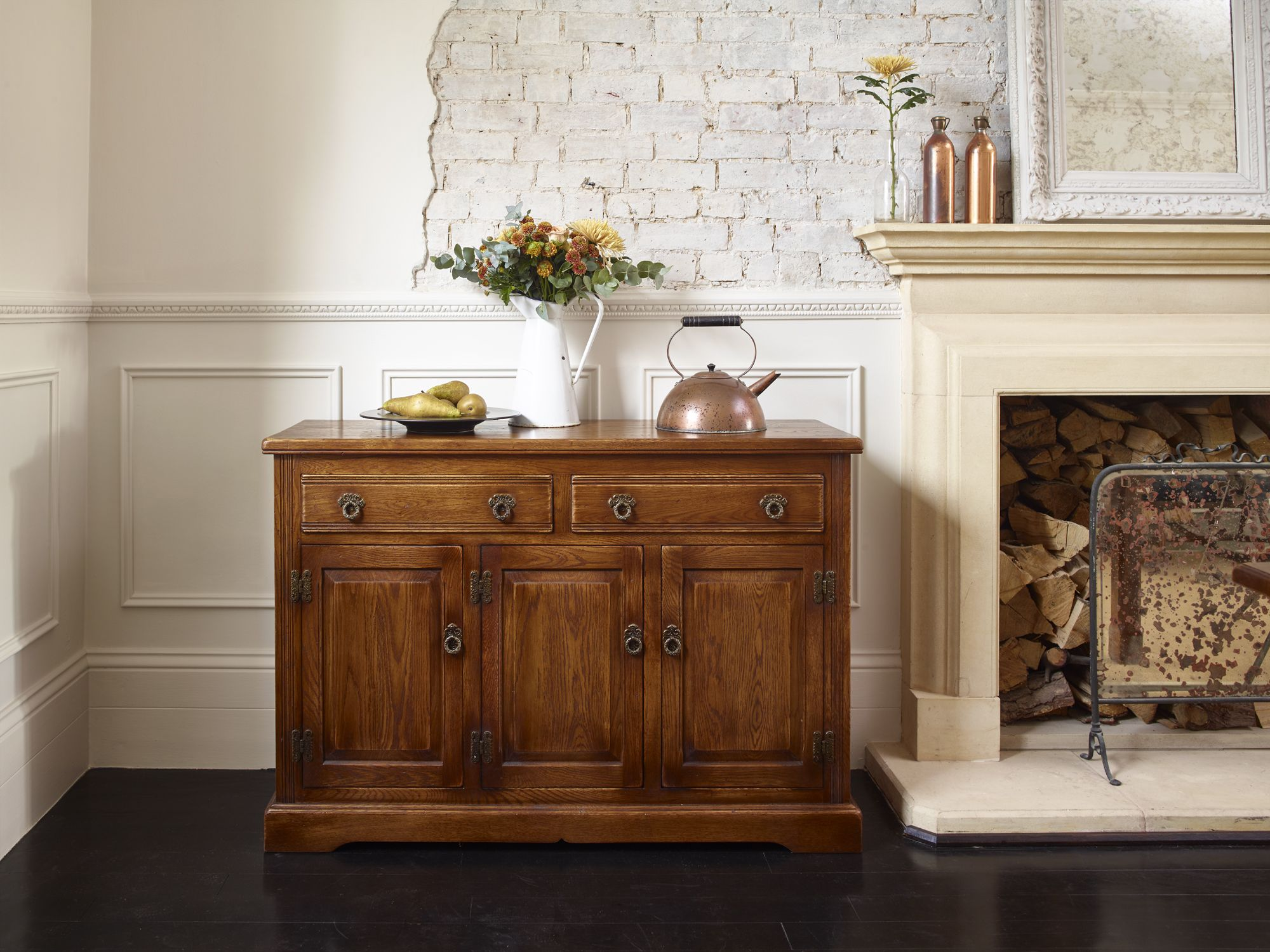 Our 2845 Old Charm Sideboard is a generous sideboard that offers two