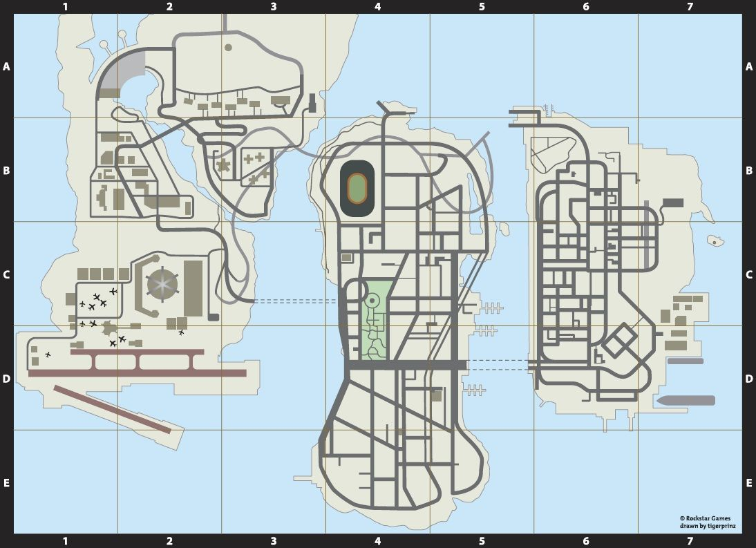 The Monday Map Video Games Maps Hejorama Grand Theft Auto Gta Games