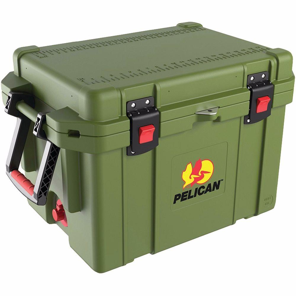 Pelican 35 Quart Progear Elite Cooler Olive Drab Green 7 10 Days Ice Retention Pelican Cooler Marine Coolers Portable Cooler