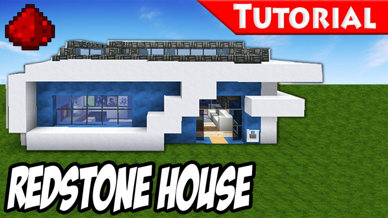 Minecraft How To Build A Modern Redstone House Tutorial