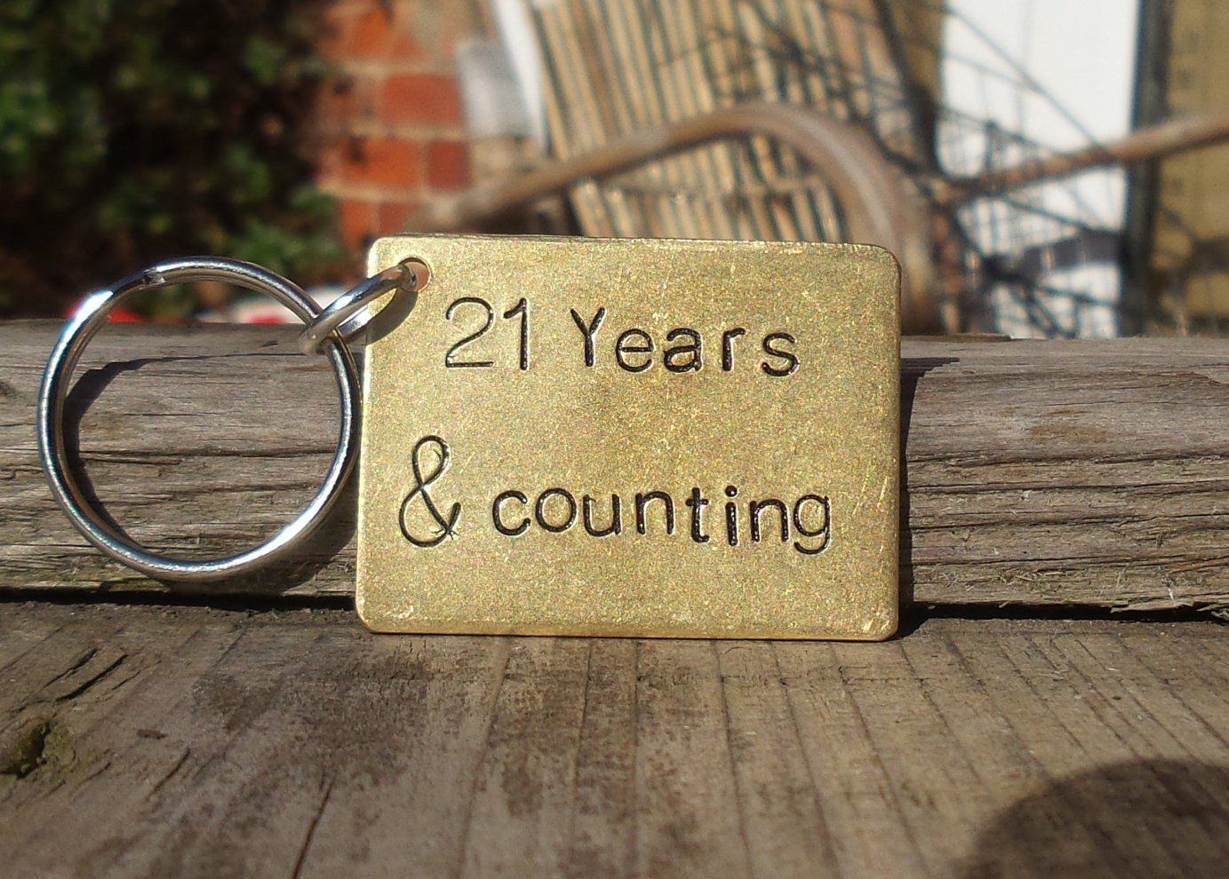 21 years and counting keyring husband wife gifts for men