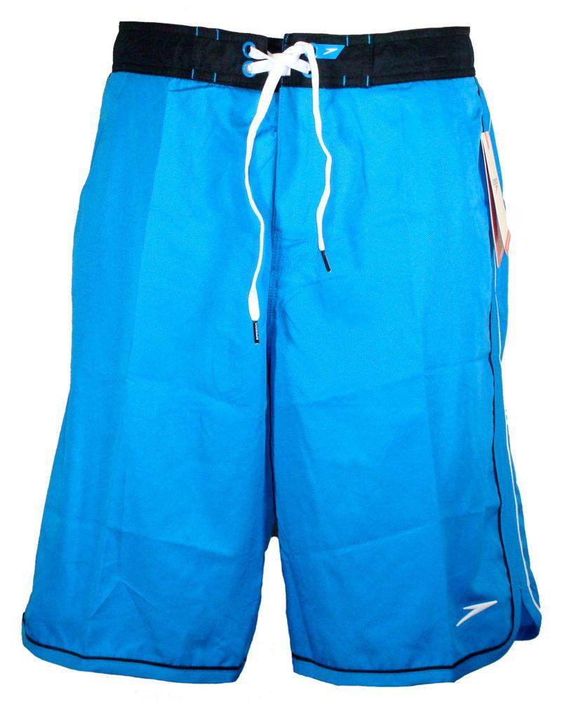 ab20d3f5c9 NEW Speedo Mens Swim Board Shorts RIPTIDE Swimwear Aquagon Blue Sz 34 NWT  $58 #Speedo #BoardShorts