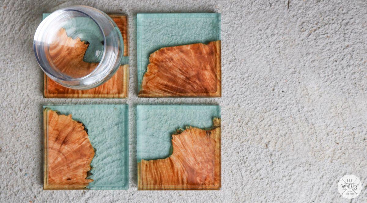 Diy resin and wood coasters diy coasters wood coasters