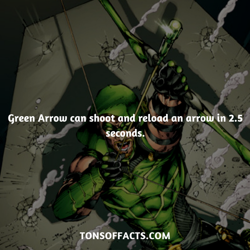 he can shoot and reload an arrow in 2 5 seconds greenarrow tvshow
