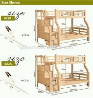 Planos y medidas para literas camas dobles o cuchetas - Medidas camas infantiles ...