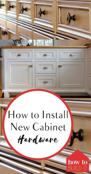 How to Install New Cabinet Hardware Popular pins, Cabinet hardware