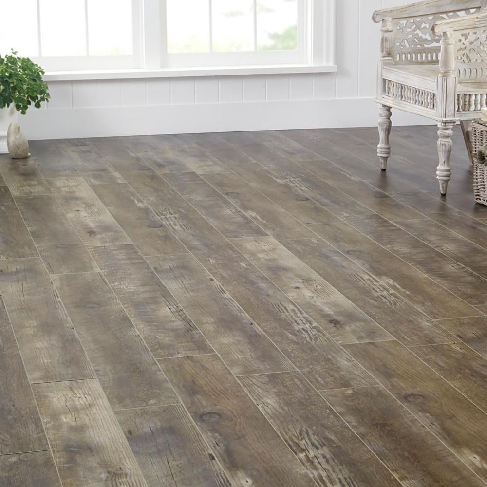 Home Decorators Collection Eir Radcliffe Aged Hickory 12 Mm Thick X 6 7 16 In Wide X 47 3 4 In
