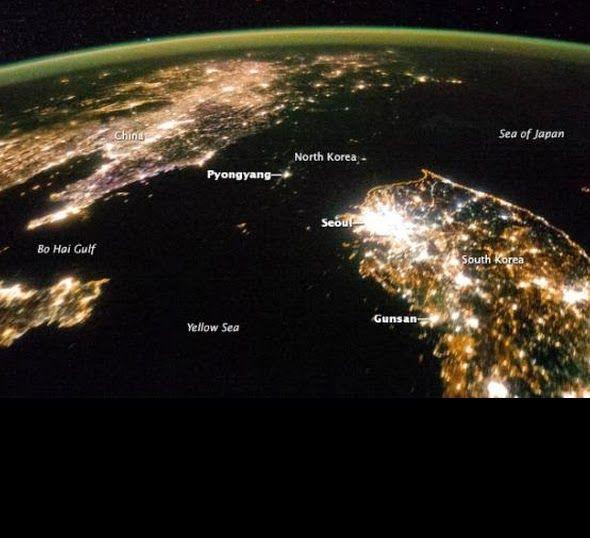 reportages: La notte in Nord Corea, il buio assoluto (tranne la capitale)...
