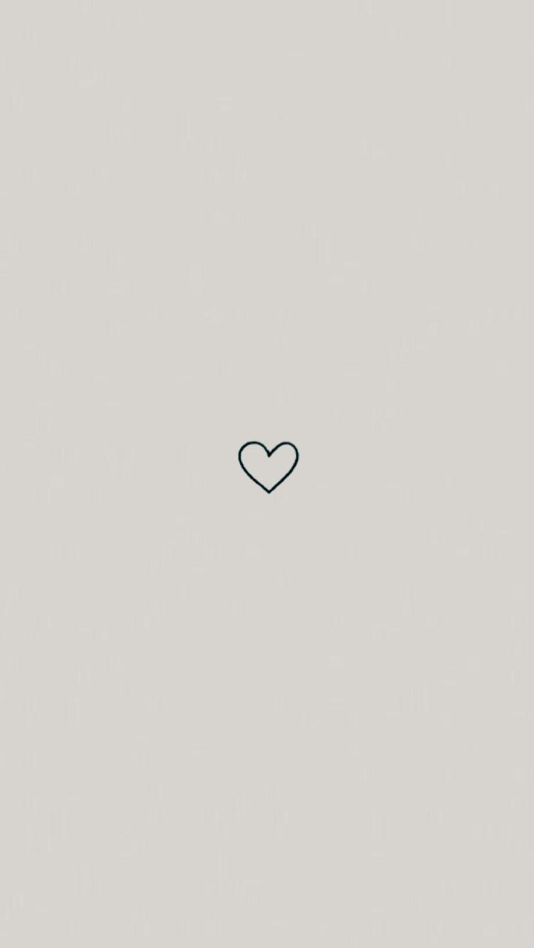 cute simple pink heart wallpaper background iphone