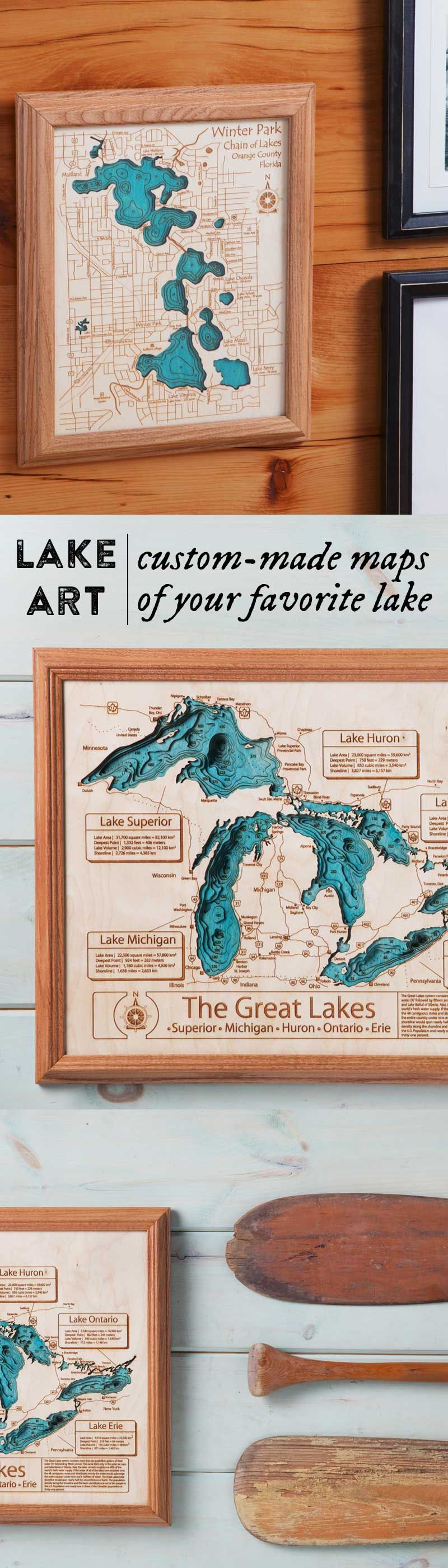 Lake Art The Grommet These maps
