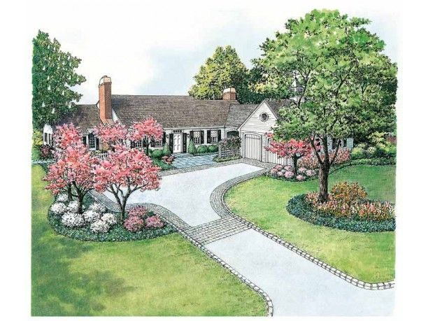Colonial Style House Plan 0 Beds 0 Baths 0 Sq Ft Plan 1040 12 Landscape Plans Landscape Plan Landscape Design