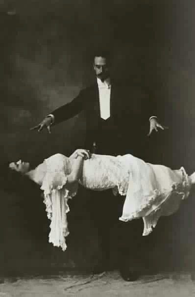 Good old fashioned levitation.