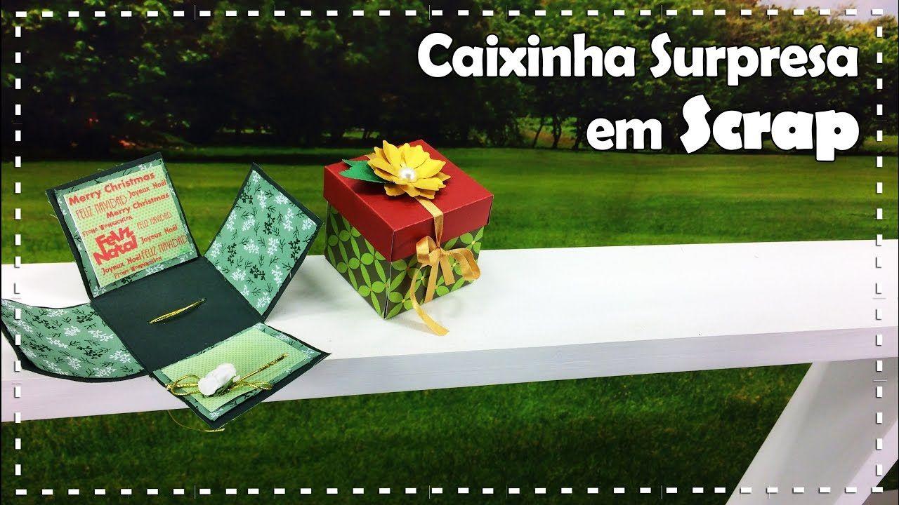CAIXINHA SURPRESA EM SCRAP com Patrícia Araújo - Programa Arte Brasil - ...
