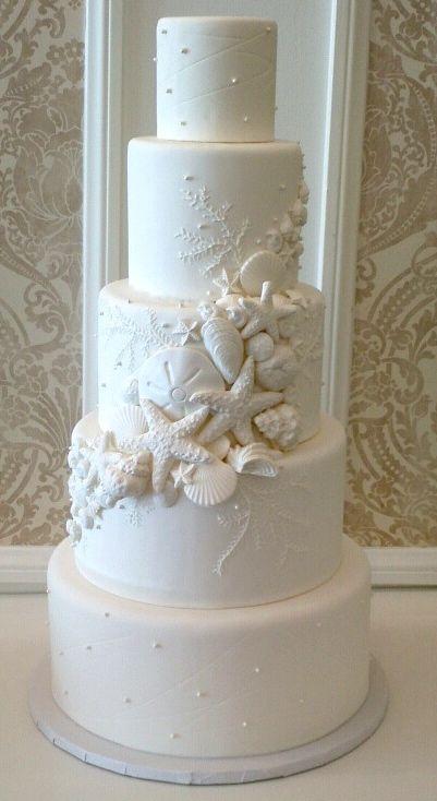Vanilla Bake Shop Wedding Cakes Seashell Wedding Cake Beach Theme Wedding Cakes Seashell Wedding