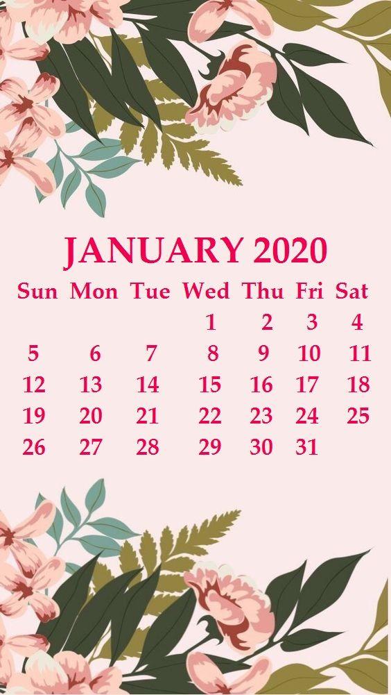 iphone january 2020 calendar wallpaper  january