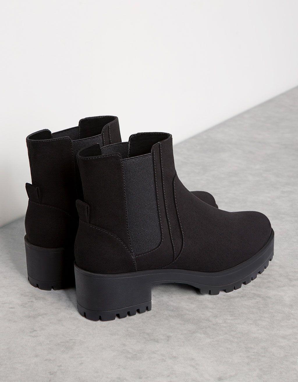 e2b7ffc3 Ботинки на платформе с эластичной вставкой | Boots & Shoes | Ботинки ...