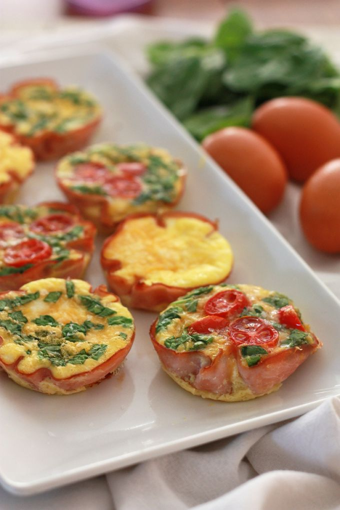 """Easy Paleo Mini QuicheMini quiche bites are ideal for all your """"I'm late AF"""" mornings.  #refinery29 http://www.refinery29.com/healthy-breakfast-recipe-ideas#slide-7"""