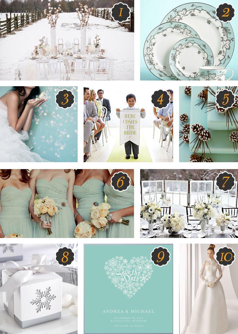 A Winter Wedding Theme - White and Aqua   Wedding Ideas   Pinterest ...