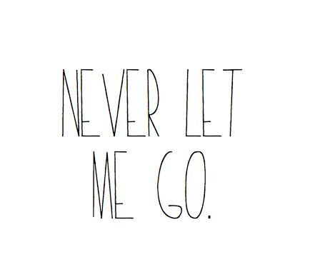 nunca me dejes ir