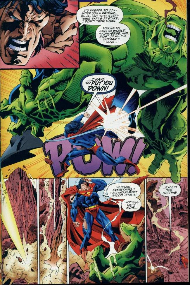 Superman vs Smart Hulk / Professor Hulk DC vs MARVEL 3