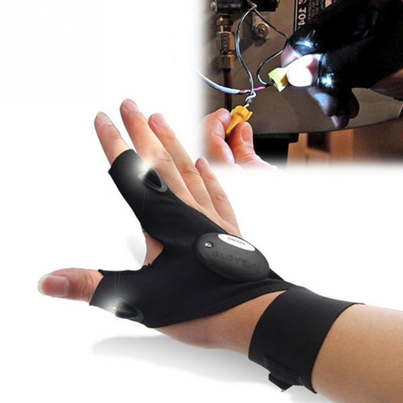 Fingerless LED Flashlight Gloves ✋ – AmazinTrends.com