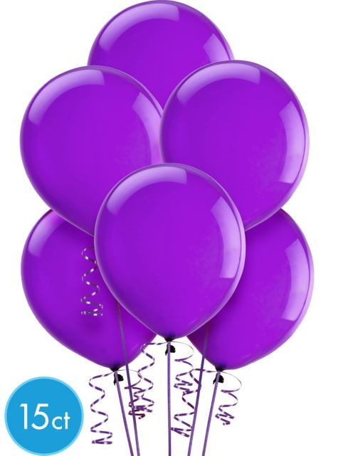 Violet Latex Balloons 12in 15ct