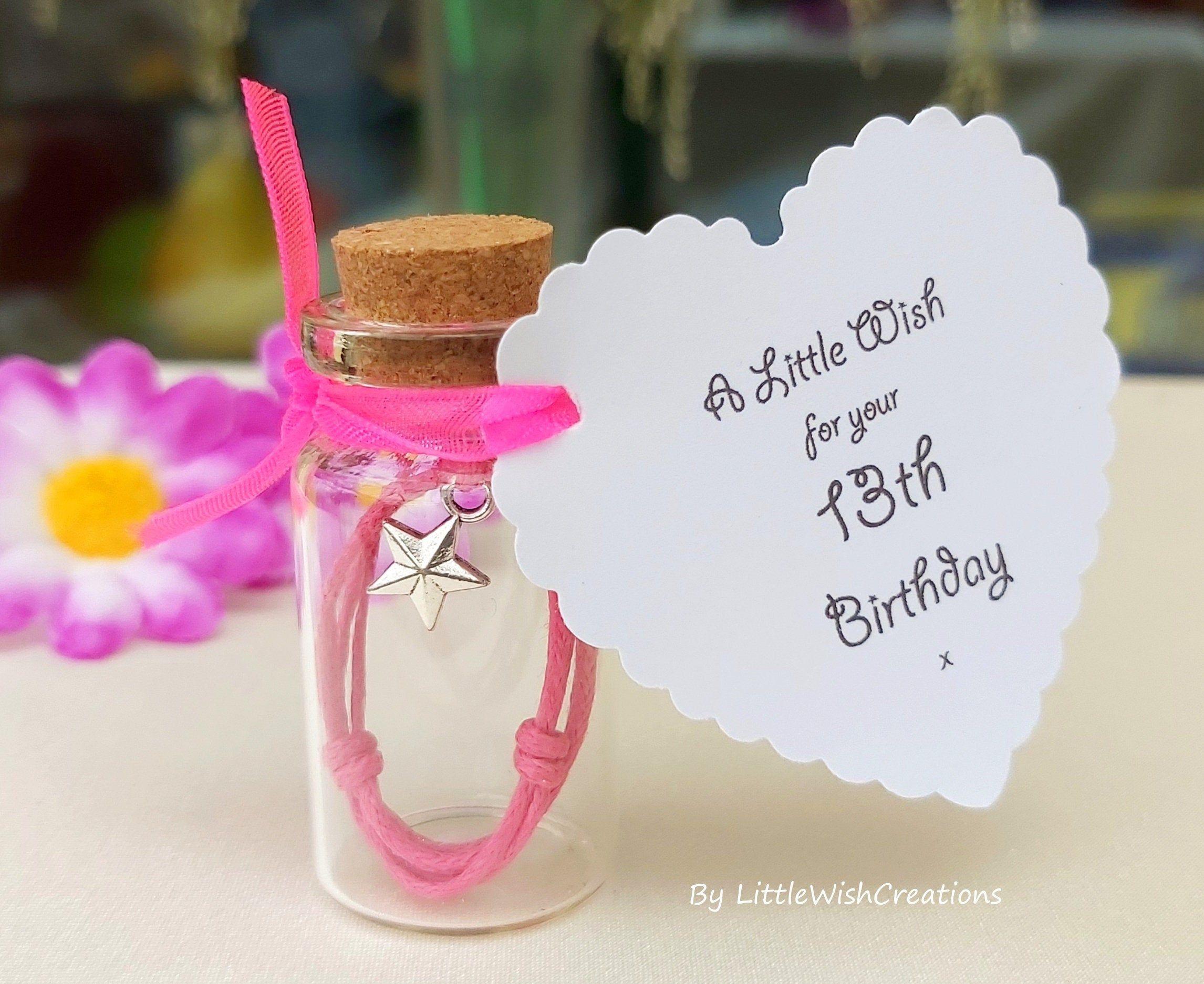 13th birthday wish bracelet mini wish bottle teenager gift