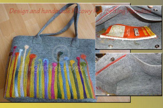 handmade handbagfelting embroideredsummer by FeltingParadiseArt