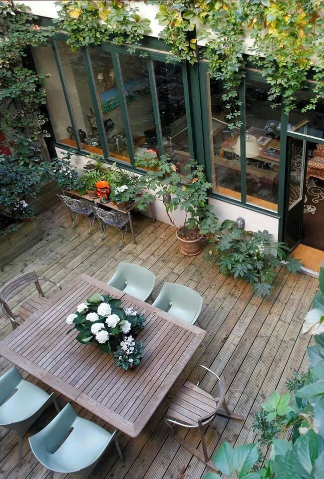 Terrasse aménagée | Jardin | Pinterest | Patios, Outdoor spaces and ...
