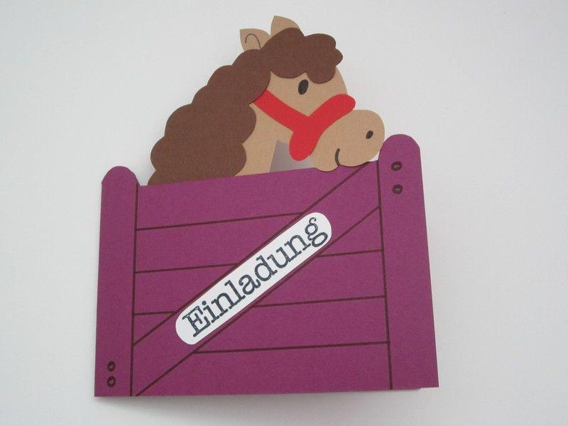 Einladungskarten Kindergeburtstag Pferd   Lila Von Bagiolo Auf DaWanda.com