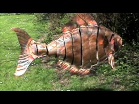 metal fish art wall decor.htm a suspended copper fish mobile 100cm long moving in the wind  with  a suspended copper fish mobile 100cm