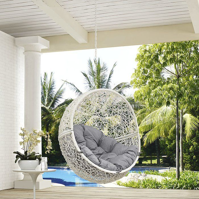 Valletta Swing Chair With Stand Reviews Joss Main Patio Swing Chair Swinging Chair Swing Chair Outdoor
