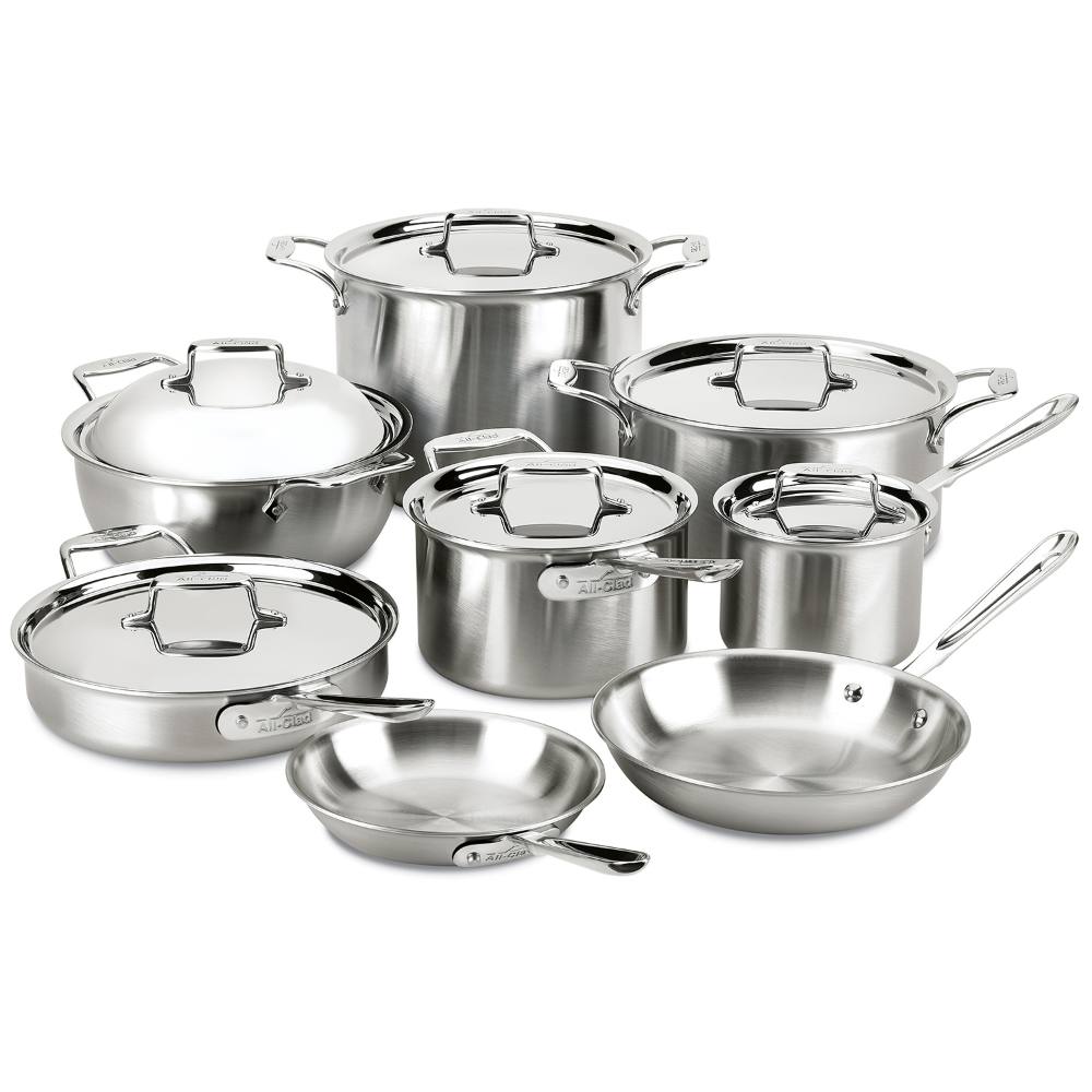 Shop All Clad D5 Brushed Stainless Steel 14 Piece Set And More From Sur La Table In 2020 Cookware Set Stainless Steel Cookware Set Pots And Pans Sets