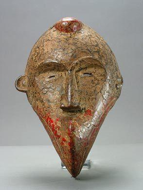 Wooden Polychrome Mask Origin: Liberia Circa: 20 th Century AD