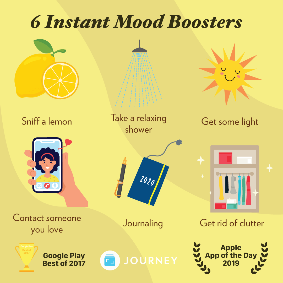 6 Instant Mood Boosters | Self care bullet journal, Self care activities,  Self improvement tips