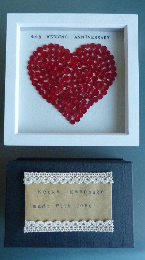 Personalised Frame 9x9 Wedding Anniversary Ruby By Keekskeepsake