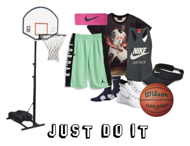 """I love basketball"" by emina-h15 ❤ liked on Polyvore featuring NIKE"