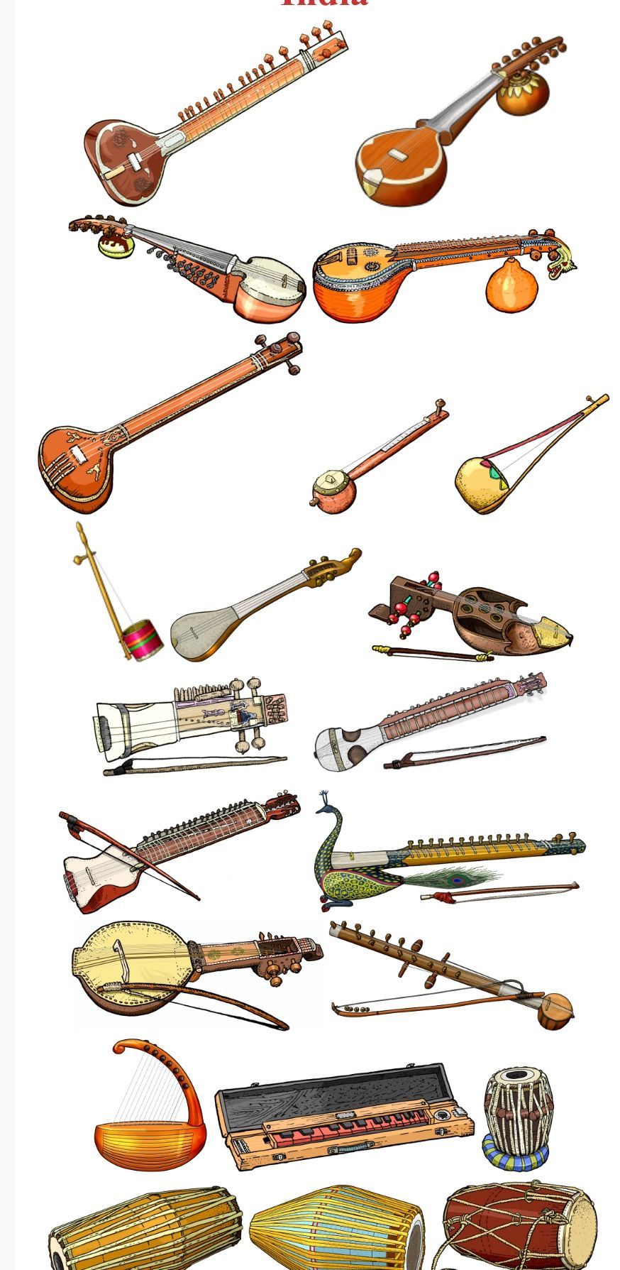 Indian Musical Instruments Indian Musical Instruments Indian Instruments Folk Instruments